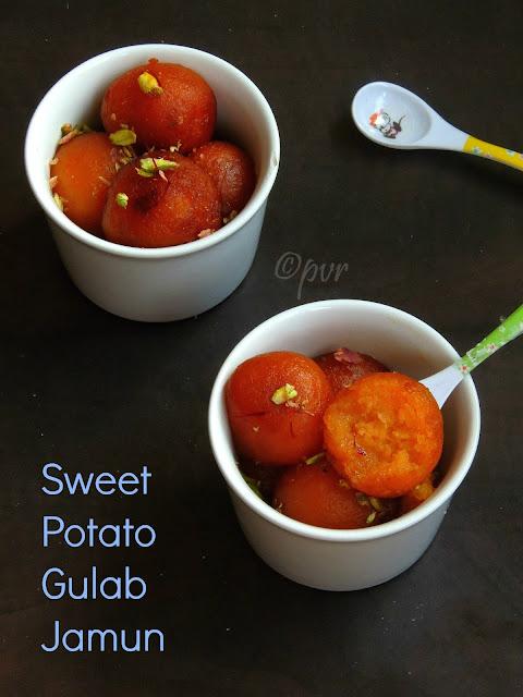 Ranga Aloo-r Pantua,Shakarkandi Gulab Jamun, Sweet potato Jamun