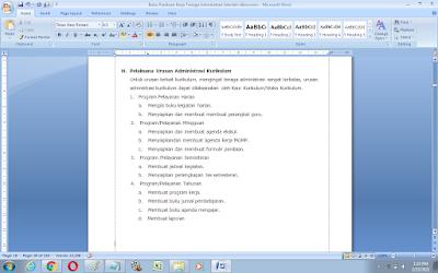 Contoh Tugas dan Fungsi Pelaksana Urusan Administrasi Kurikulum