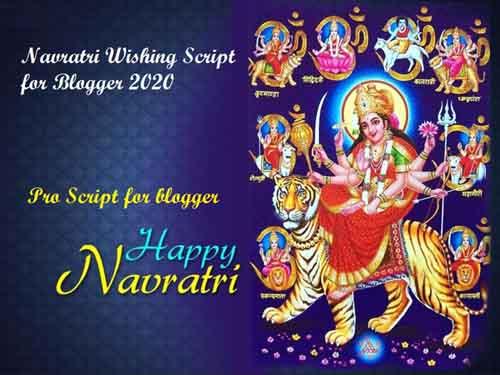 Navratri 2020 Script For Blogger Free Download