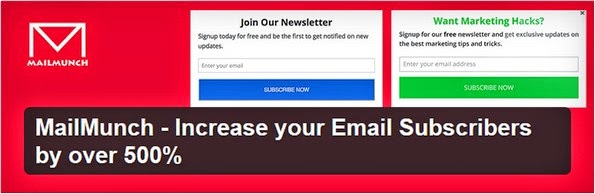 MailMunch WordPress plugin for Aweber forms