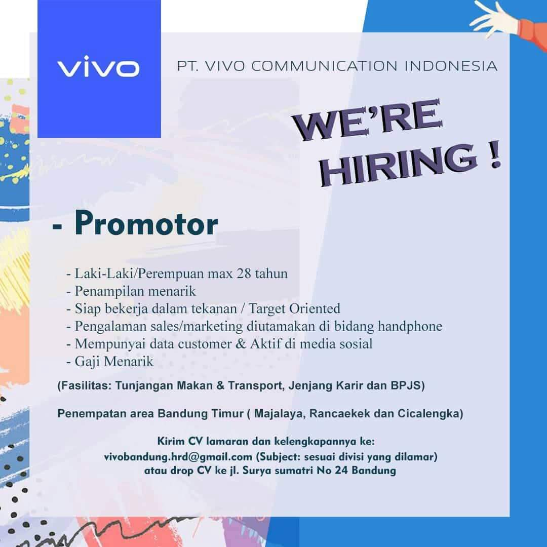 Lowongan Pekerjaan PT. Vivo Communication Indonesia
