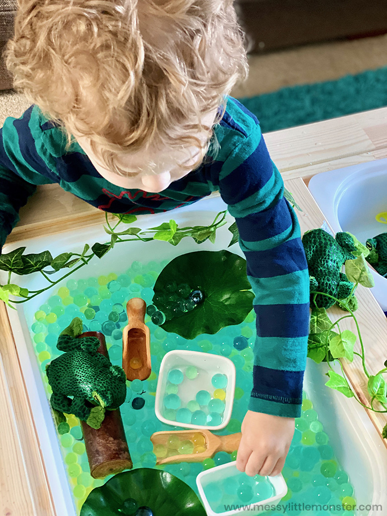 spring sensory bins for toddlers
