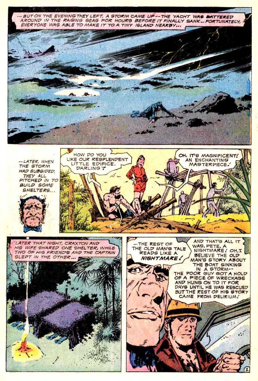 Alex Nino dc bronze age horror 1970s comic book page art - House of Secrets #106