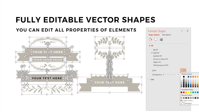 Fully Editable Vintage Banners PowerPoint Template