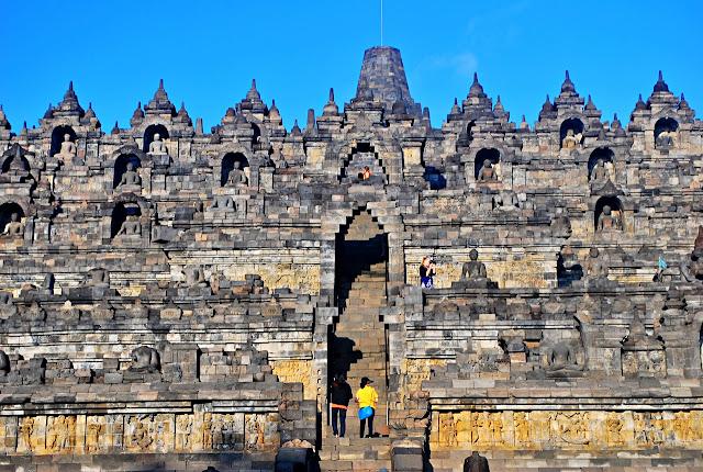 Kara Santos in Borobudur Yogyakarta Indonesia