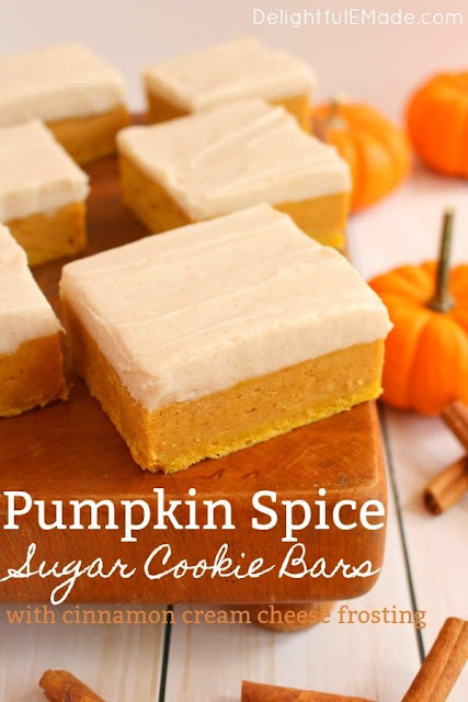 Pumpkin Spice Sugar Cookie Bars Recipe