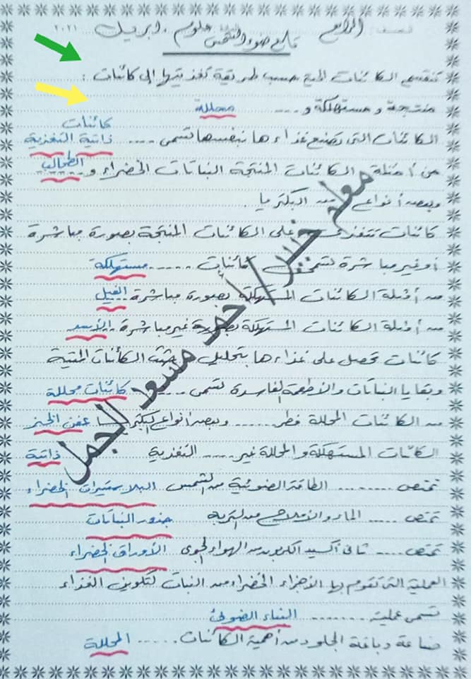 """مراجعة ليلة الإمتحان علوم ورياضيات للصف الرابع الإبتدائى ترم ثانى """"مقرر ابريل"""" أ/ أحمد مسعد الجمل  5"""