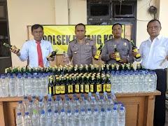 Gelaran KKYD Polsek Batang Kota Amankan Ratusan Botol Miras
