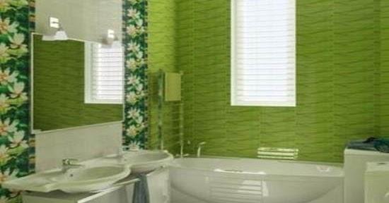 27 Keramik Dinding Kamar Mandi Warna Hijau Motif Top