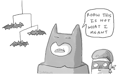 Batman pun for batmobile