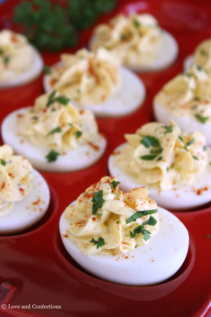 Hummus Deviled Eggs by LoveandConfections.com