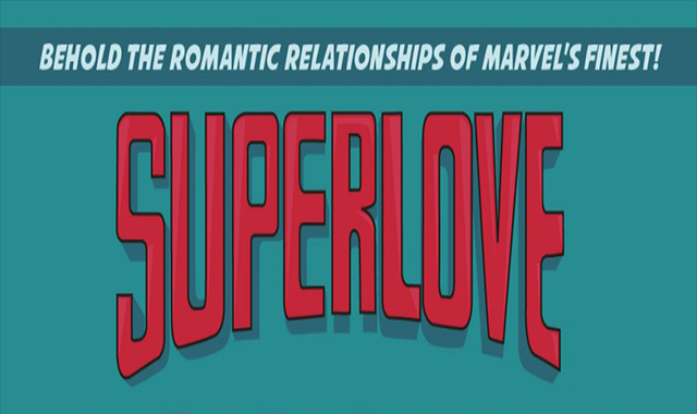 In the Universe of Marvel, every romantic relationship #infographic