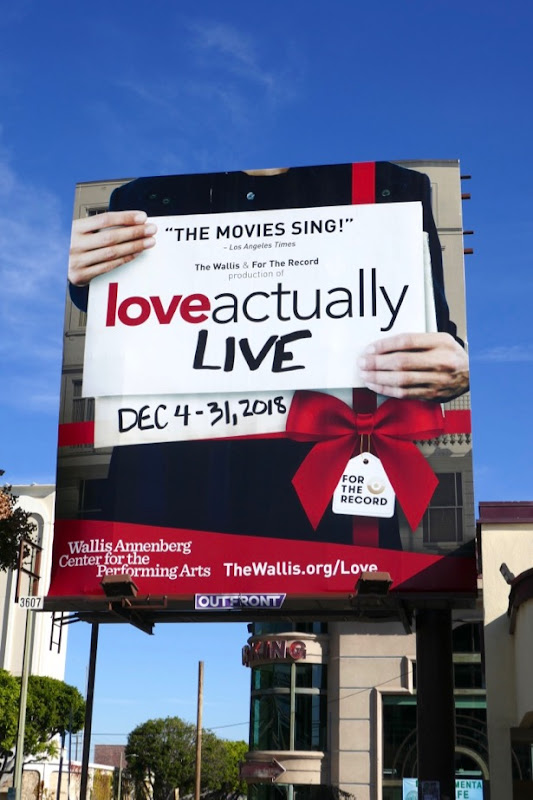 Love Actually Live billboard