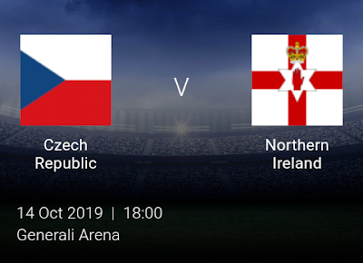 LIVE MATCH: Czech Republic Vs Northern Ireland Fifa Internationals 14/10/2019