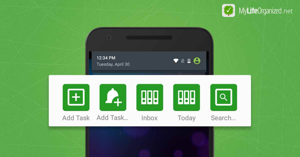 Actions from the notification area in MLO for Android
