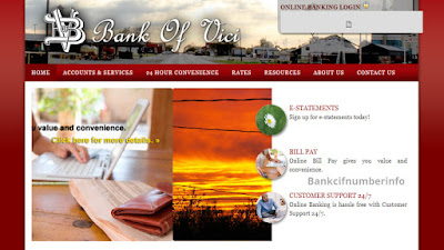 Login with Bank of Vici Online Banking