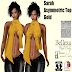 TBOM - SARAH ASYMMETRIC TOP GOLD