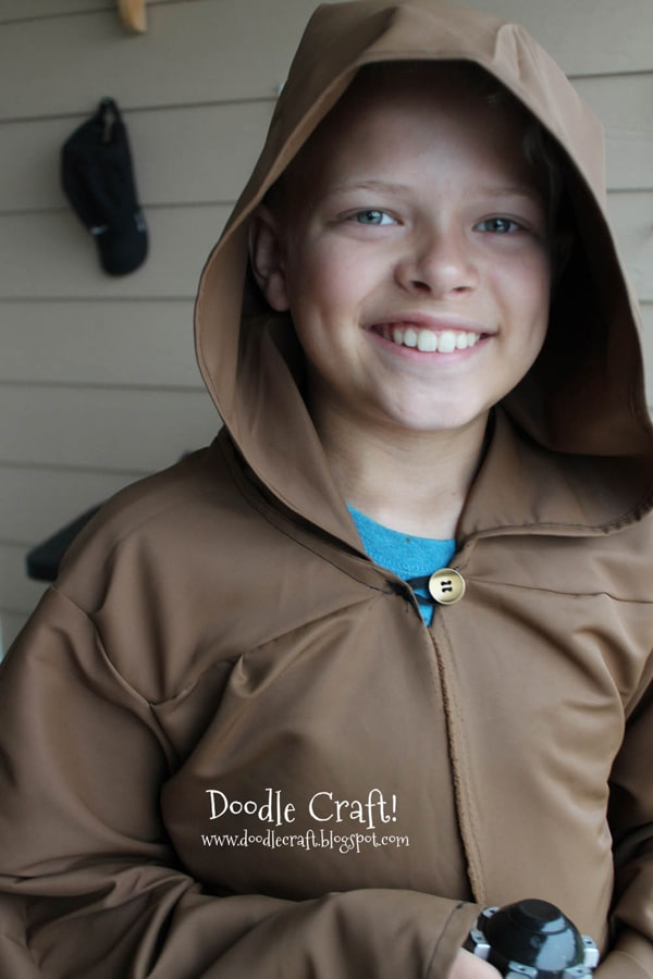 Jedi robe pattern perfect for Star Wars themed halloween costumes or comic convention cosplays