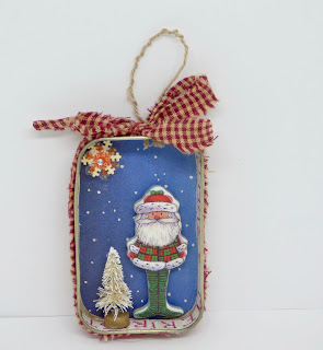 Santa ornament by BayMoonDesign