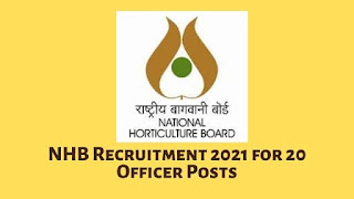 NHB Recruitment 2021 for 20 Officer Posts