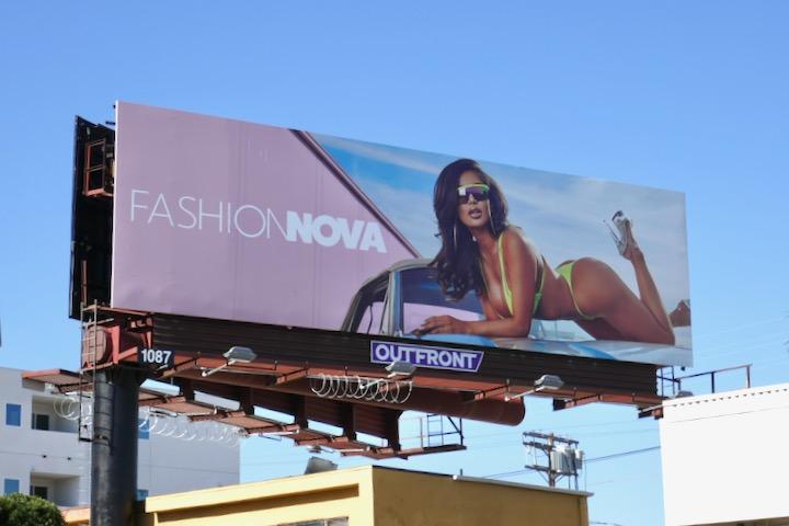 Fashion Nova bikini S20 billboard