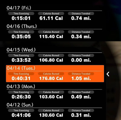 Ring Fit Adventure exercise log world 23 Finalia length