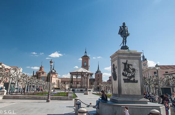 Plaza Cervantes. Alcala de Henares. Madrid