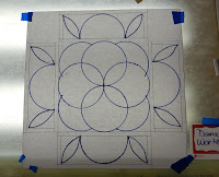 Mandala design layout, Dana Worley