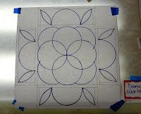 Mandala design layout, Dana Worley