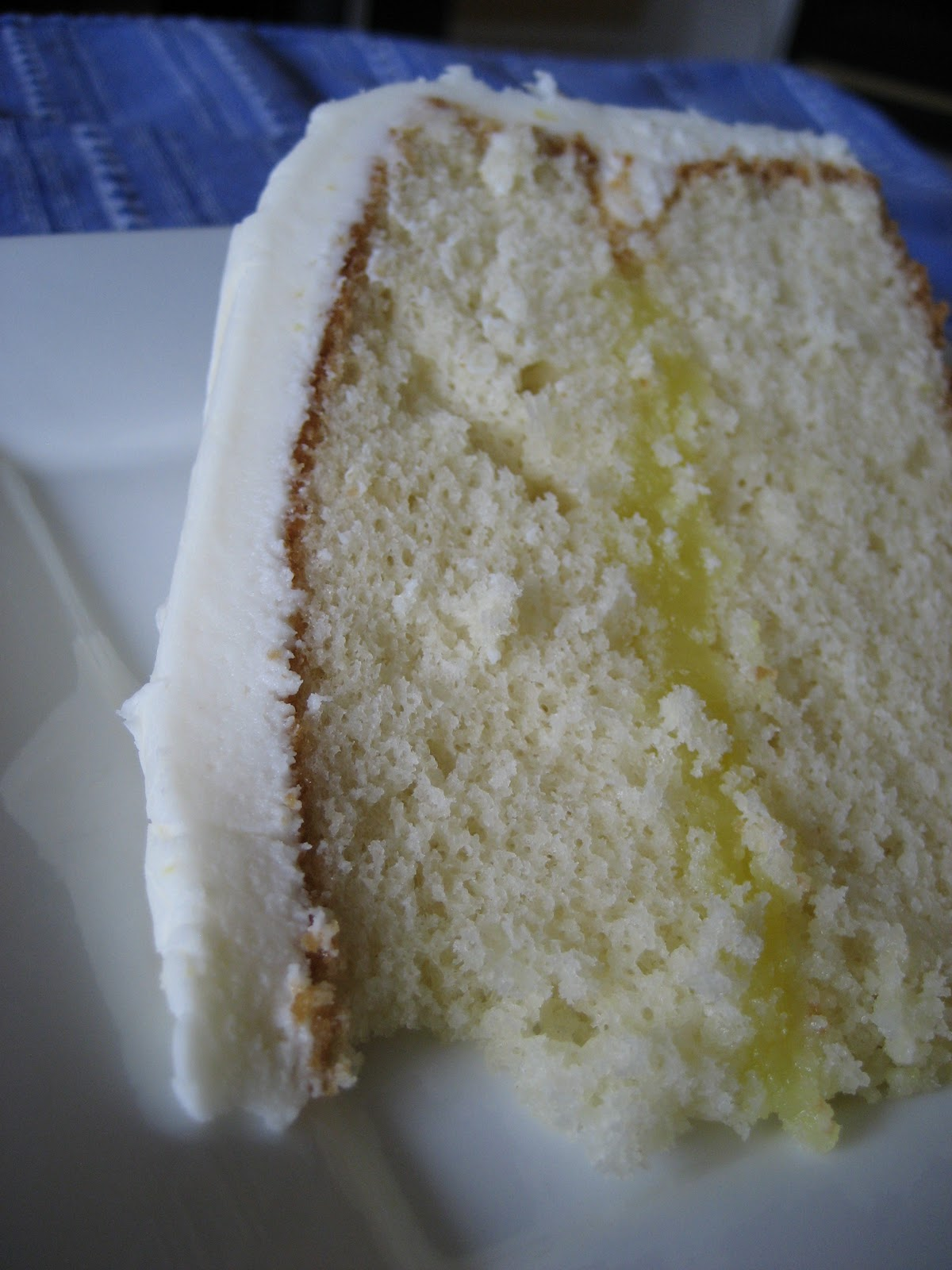 White Cake with Lemon Filling and Lemon Cream Cheese Frosting