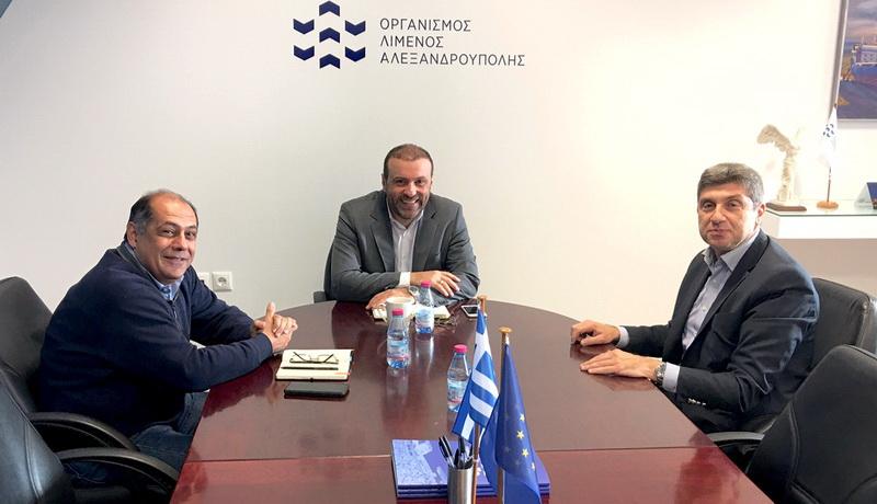 Συνάντηση Παύλου Μιχαηλίδη με τη νέα διοίκηση του Οργανισμού Λιμένος Αλεξανδρούπολης
