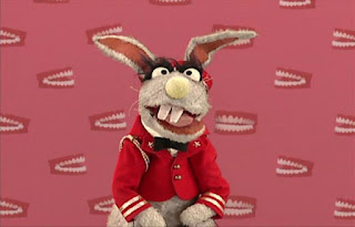 Rabbits have teeth. Benny Rabbit appears but he announces that he is Benny, not a rabbit. Sesame Street Elmo's World Teeth Quiz