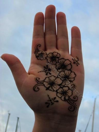 How to Make Henna Mehendi Design : Easy Design for Palm ... |Simple Henna Palm Designs
