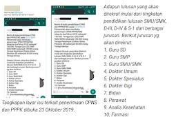 [HOAKS] Rekrutmen CPNS Dibuka 23 Oktober 2019