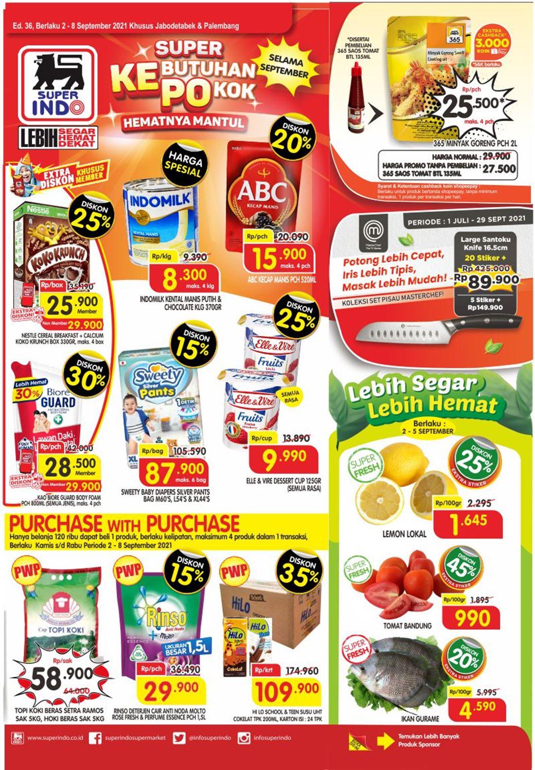 Katalog Superindo Promo Superindo Mingguan 02 - 08 September 2021