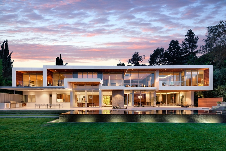 Sunset Plaza Drive Modern Mansion In Los Angeles At