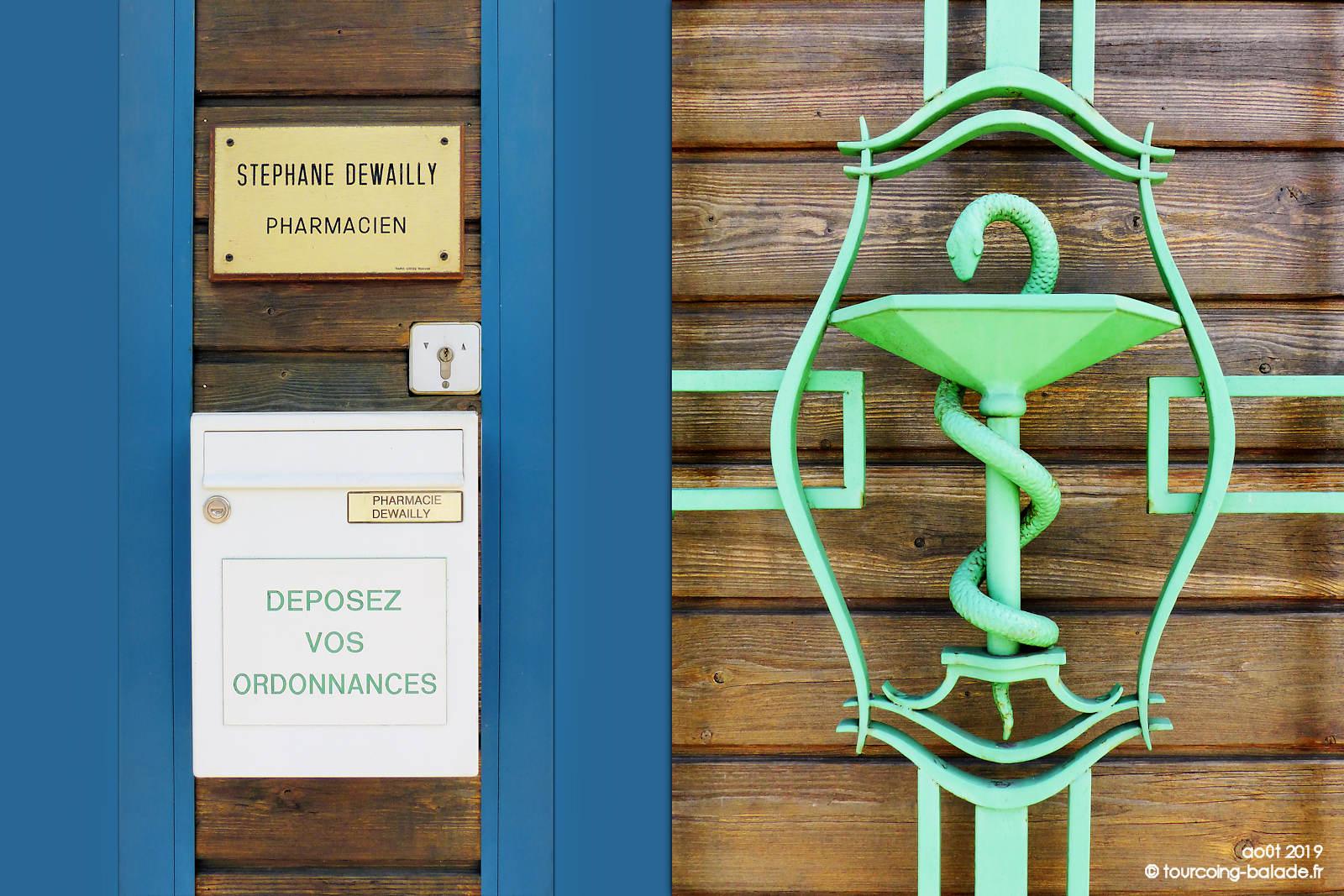 Pharmacie Dewailly Tourcoing - Coupe d'Hygie Caducée