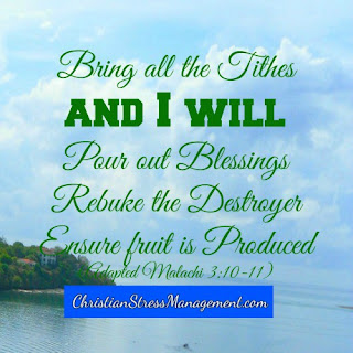 Bring all the tithes and I will pour out blessings, rebuke the destroyer and ensure fruit is produced (Malachi 3:10-11)