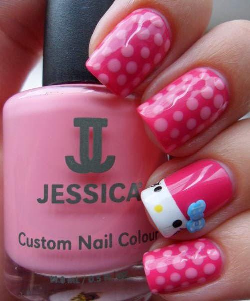 Hello Kitty Nail Designs   Nail Designs