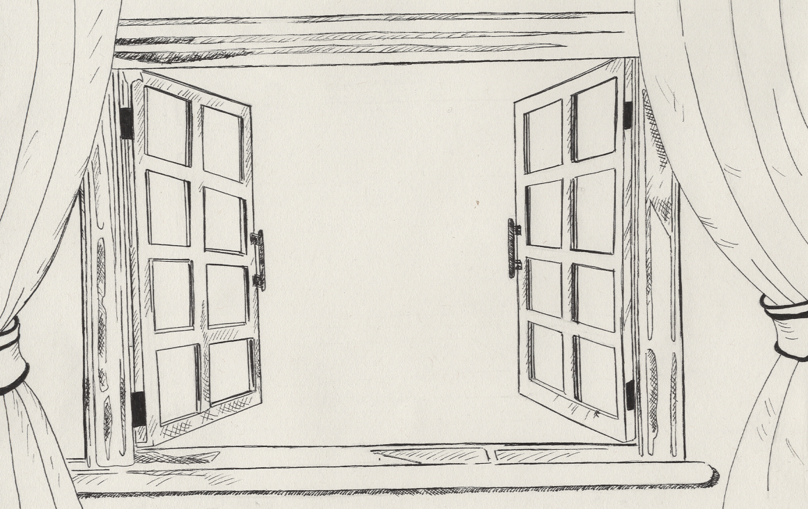 Window Drawing & Vintage Window Hand Drawn Set Of Drawings ...