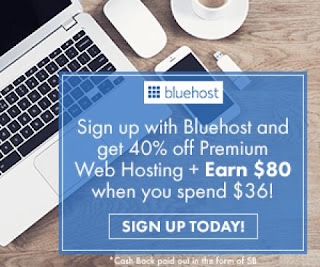 Image: Swagbucks has an AMAZING offer through Bluehost where you get 8000 SB for signing up.