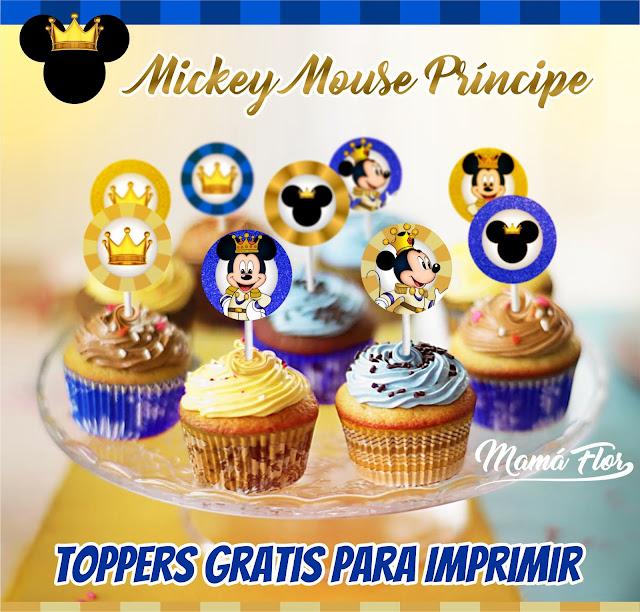 Toppers de Mickey Mouse Príncipe