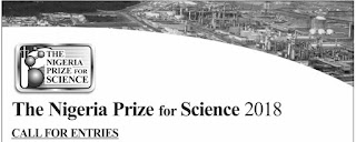 Nigeria Liquefied Natural Gas Prize for Science 2018