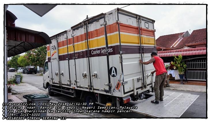 Gambar lori kotak perkhidmatan angkut (courier services) oleh syarikat FGV Transport.