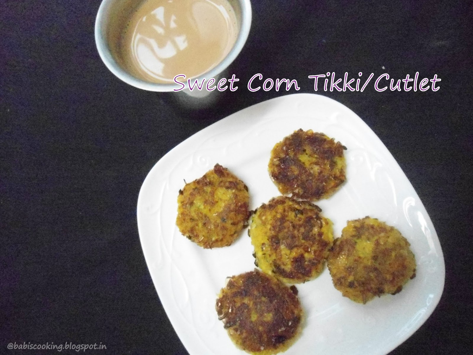 sweet corn tikki