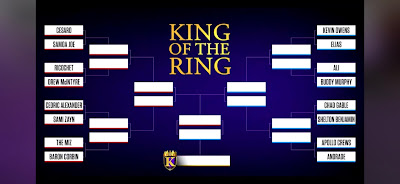 bracket format matches of competitors in 2019 king of the ring