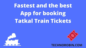 Fastest and the best App for booking Tatkal Train Tickets