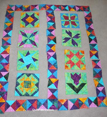 multi colored quilt blocks