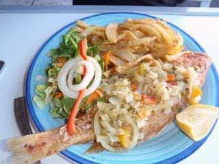 Ivorian fish dinner